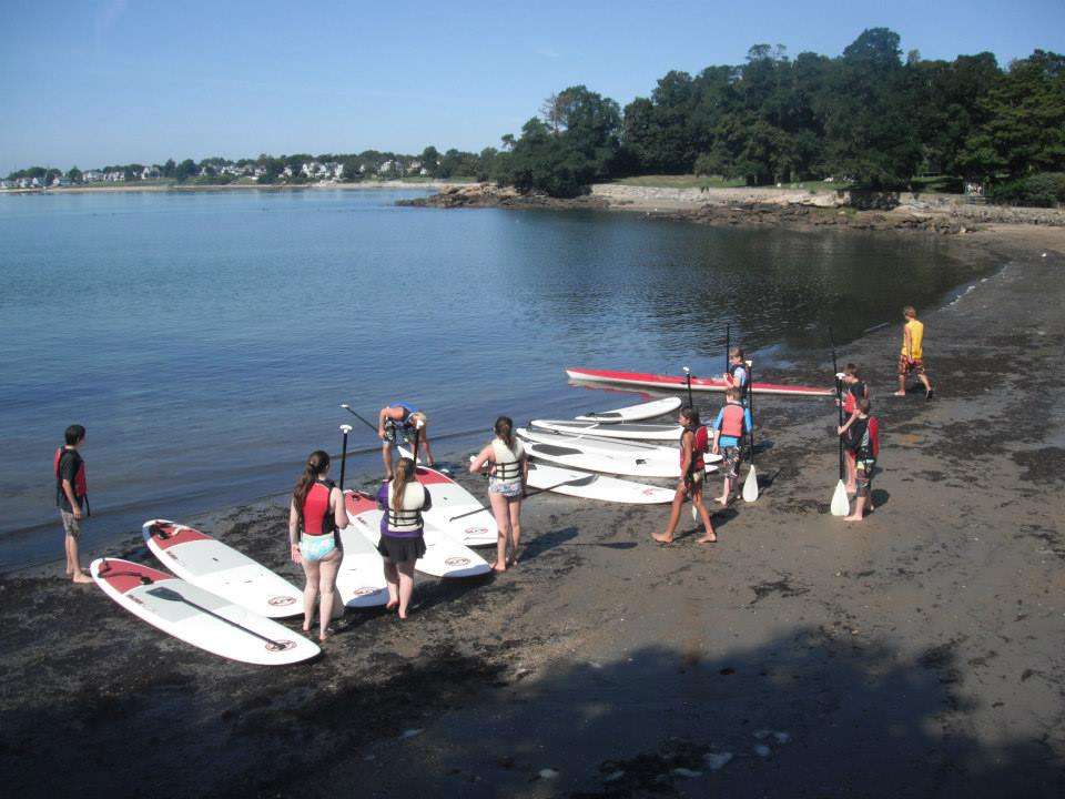 busy SUP class in Massachusetts